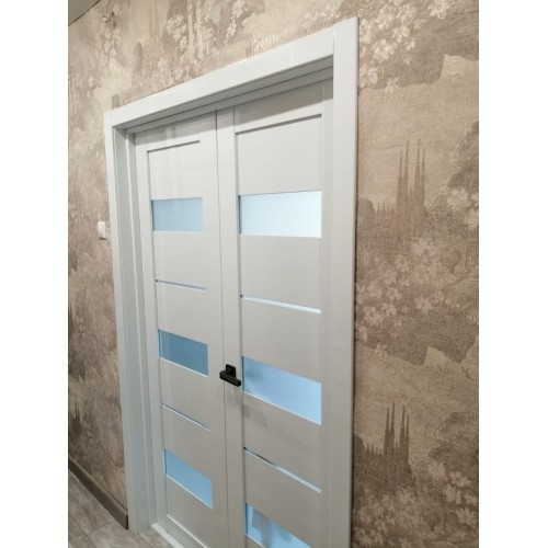 Дверь межкомнатная ПРАГА, глянец (ст. матовое)
