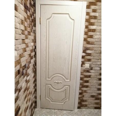 Дверь межкомнатная ЛЕОНАРДО, экошпон с патиной (глухая)
