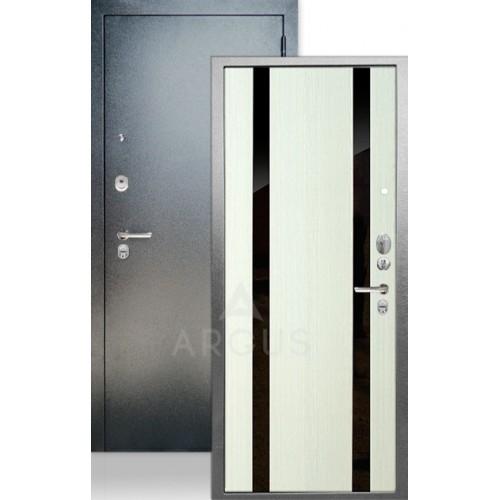 Стальная входная дверь Аргус ДА-65 Дуэт Белый ясень