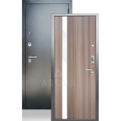 """Стальная входная дверь Аргус ДА-65 Соло Керамика с белым стеклом """"Изабель"""""""