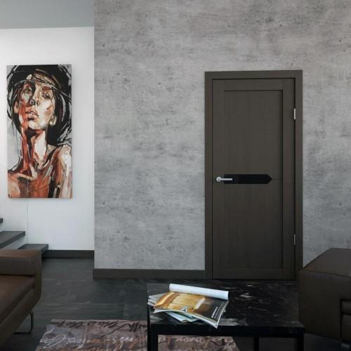 Дверь межкомнатная PRIZMA 2, экошпон (ст. черное)