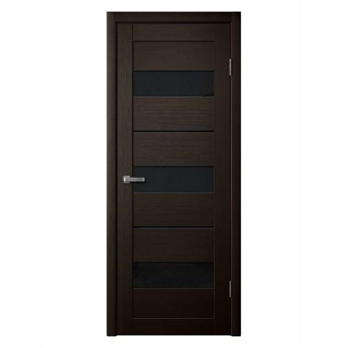 Дверь межкомнатная LD-7, экошпон (ст. черное)