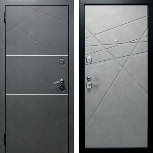 Входная дверь Абстракция 2 Серый бетон