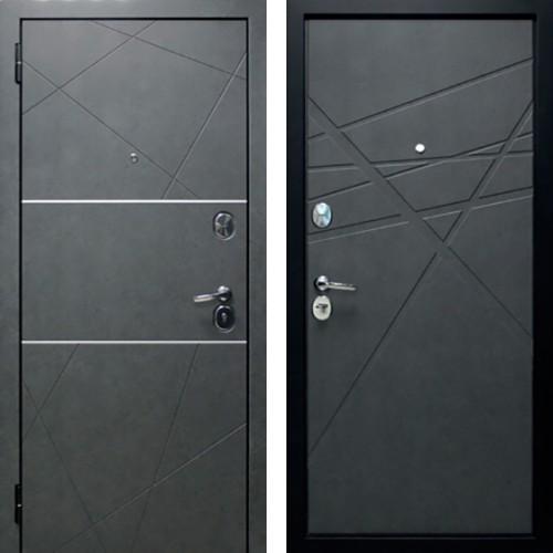 Входная дверь Абстракция 2 Темная штукатурка