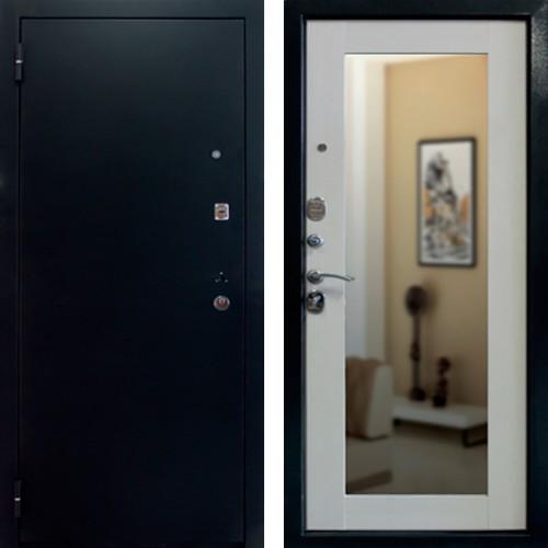 Входная дверь Престиж Зеркало Дуб беленый