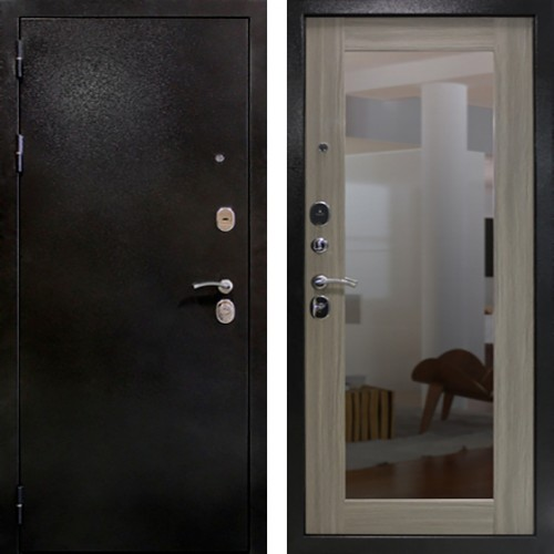 Входная дверь Триумф Базальт Зеркало